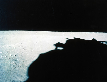 Panoramic view of lunar landscape, 1972.
