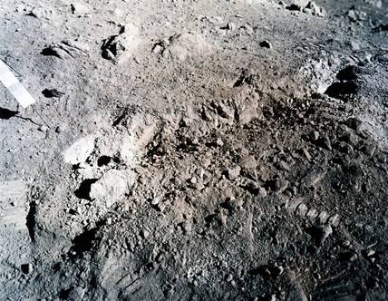 Orange soil on the moon, 1972.
