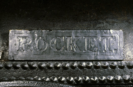Nameplate from the remains of Stephenson's