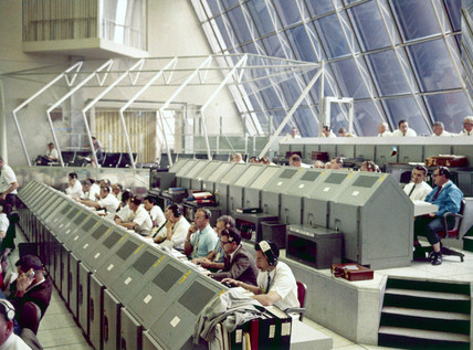 Launch Control Centre, Kennedy Space Centre, Cape Canaveral, Florida, 1970s.