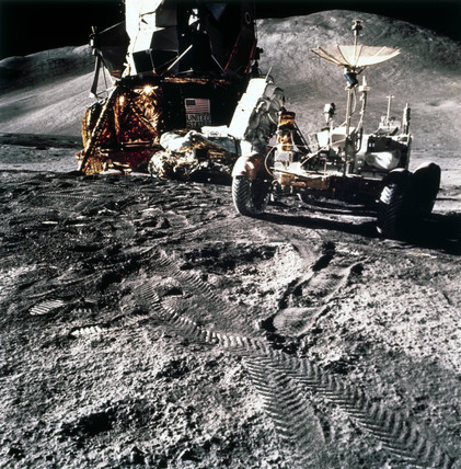Apollo 15 astronaut James Irwin on the Moon, 1971.