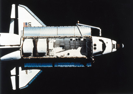 Space Shuttle Challenger in orbit, 1983.