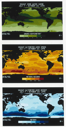Three Seasat maps, 1978.