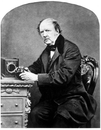 William Henry Fox Talbot, pioneer photograper, 1860s.