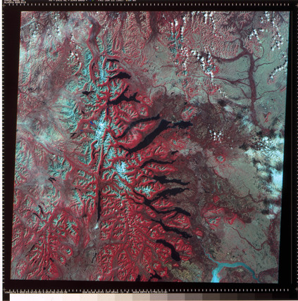 Landsat image of Wyoming, United States, 1974.