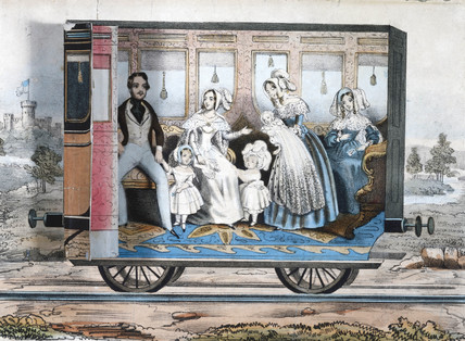 The Royal railway carriage, c 1848.