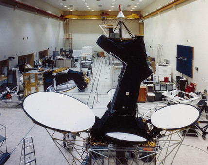 Intelsat 5 communications satellite, 1980.