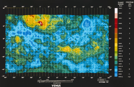Topographical map of Venus, November 1981.