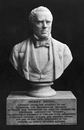Henry Booth, British railway pioneer, c 1840s.