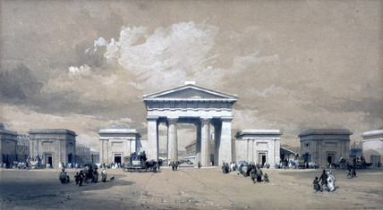 Euston Arch, London, April 1838.