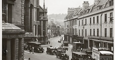 Busy comings and goings in Northgate Street, Bath,