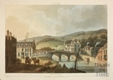 The Old Bridge and Broad Quay, Bath 1804