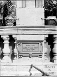 Plaque on John Wood (the younger's) house, 41, Gay Street, Bath c.1903