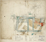 Plan of Roman Remains during excavations for the Albert Wing of the United Hospital 1864