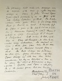 Letter of authentication of Cozens coloured engravings, Bath 1914
