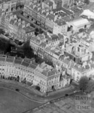 Corner of The Royal Crescent and Brock Street, Bath c.1950 - detail