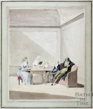 Family Seated around a Table c.1785. Untitled watercolour