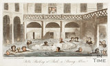 Public Bathing at Bath or Stewing Alive 1825