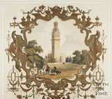 Ornamental Title with view of Tower 1844 - detail