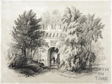 Embattled Gateway in Garden 1844
