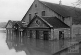 The Pavilion and the Rec in flood 1964