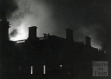 The Assembly Rooms, Bath, burning at the height of the raid, Saturday April 25th 1942