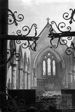 The west door and interior of St Andrews Church, Bath, April 1942