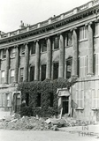 17 Royal Crescent, Bath, gutted by fire from an incendiary bomb April 1942