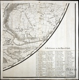 Thos. Thorpe Map of 5 miles round Bath. Conkwell, Winsley, Freshford, Iford, Westwood, Belcombe Brook 1742