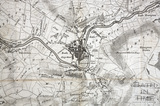 Thos Thorpe Map of 5 miles round Bath 1742 - detail