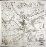 Thos. Thorpe Map of 5 miles round Bath. Bath Centre, Weston, Twerton, Claverton Down, Bathampton, Charlcombe, Widcombe, Lyncombe, Bathwick 1742