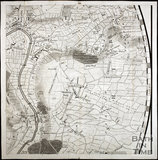Thos. Thorpe Map of 5 miles round Bath. Monkton Farley, Claverton, Bathford, Batheaston, Kingsdown, Ashley 1742
