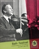 Bath Festival Souvenir Programme June 6th to 16th 1963