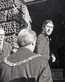 The Prince of Wales enters the Guildhall with the Mayor 1972