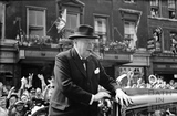 Winston Churchill outside the Guildhall 1950