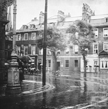 Looking from the corner of the portico of the Royal Literary and Scientific Institute towards North Parade and St Johns Church c.1920