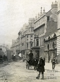 High Street, showing the Guildhall Market and White Lion Hotel c.1890 - detail