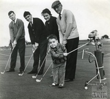 Meet the golfing Green family, October 1963
