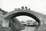 Dry Arch on the Warminster Road being dismantled, Bathampton c.1958