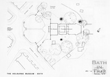 Layout Plan of the proposed extension to the Holburne Museum, February 1973