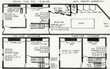 Ground, first and second floor plan of 16 Margaret's Hill c.Feb 1964
