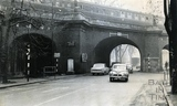 The old railway bridge, Pulteney Road, c.1960s