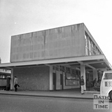 The bus station, Newark Street, 20 July 1971