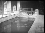 The Roman Baths, one of the smaller bathing pools c.1934