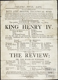King Henry IV Playbill, Feb 23 1804
