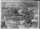A view from an elevated position (probably 32 Sydney Buildings) looking southwest towards the Ebenezer Chapel and Widcombe c.1930s