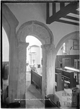 Saxon Doorway, inside Limpley Stoke Church, 4 May 1939