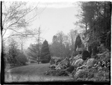 Classical garden temple in the grounds of The Hall, Bradford-on-Avon c.1930s