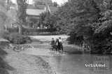 Horse and cart crossing the ford, Wellow c.1904 - detail