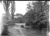 Horse and cart crossing the ford, Wellow c.1904